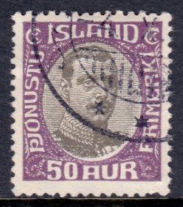 Iceland - Scott #O46 - Used - Creasing - SCV $2.25
