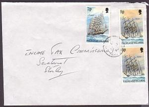 FALKLAND ISLANDS 1990 12p rate local commercial cover..........35234
