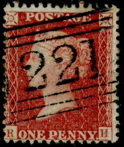 SG40, 1d rose-red PLATE 43, LC14, FINE USED. Cat £18. RH