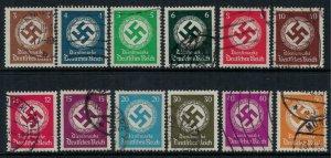 Germany #O80-91  CV $31.15