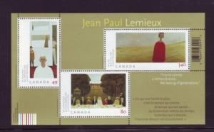 Canada Sc2068 2004 Jean Paul Lemieux stamp souvenir sheet mint NH