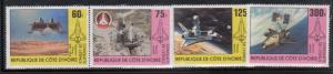 Ivory Coast 585-88 Space Mint NH
