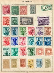 AUSTRIA STAMP OLD USED STAMP COLLECTION LOT #2