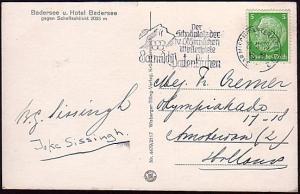 GERMANY 1938 postcard WINTER OLYMPICS slogan cancel........................37450