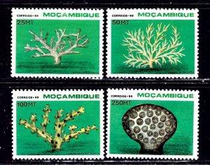 Mozambique 1080-83 MNH 1989 Coral    (ap2245)