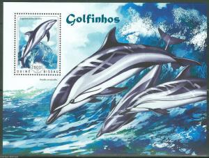 Guinea-Bissau MNH S/S Dolphins Marine Life 2014