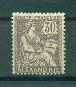 French Offices Egypt Alexandria sc# 25 mh cat val $8.00