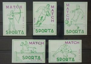Match Box Labels ! sport football horse racing rugby GN71
