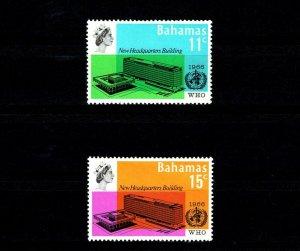 BAHAMAS - 1966 - QE II - WHO - HEADQUARTERS - MINT - MNH SET!