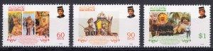 Brunei 1998 Sc#529/531 Coronation 30th.Anniversary Set (3) MNH
