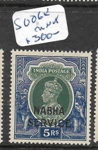 INDIA  NABHA   (PP2905B)  KGVI  5R OFFICIAL     SG O68     MNH