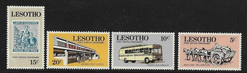 Lesotho 1972 Centenary of mail service Transport bus Stamp Post office MNH A376