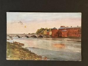 1909 Cashel Ireland Thomond Bridge County Limerick Illustrated Postcard Cover