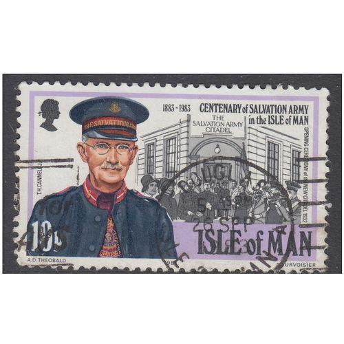 Isle of Man 1983 Salvation Army 10p - Used - Canceled as Scan