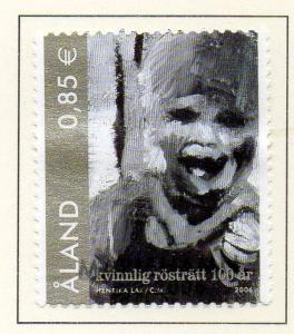 Aland Finland Sc  245 2006 Womens Suffrage stamp  used