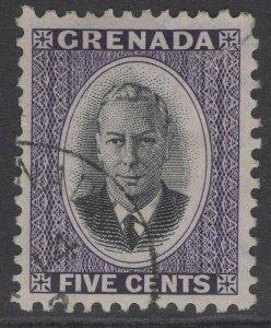 GRENADA SG177 1951 5c BLACK & VIOLET FINE USED