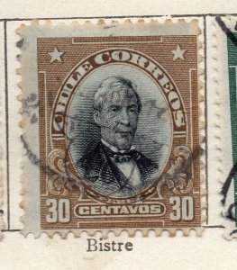 Chile 1911 Early Issue Fine Used 30c. NW-11445