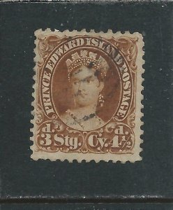 PRINCE EDWARD IS 1870 4½d YELLOW-BROWN FU SG 32 CAT £85