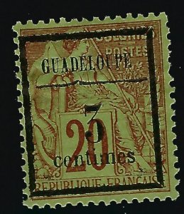 Guadeloupe Scott #3 Overprint Unused F-VF SCV$4.75..French Colonies are hot!