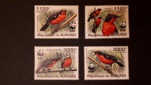 Burundi 2011. - Birds WWF ** MNH complete set (perforated)