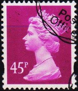 Great Britain. Date? 45p Fine Used
