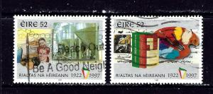 Ireland 1057 and 1057 Used 1997 issues