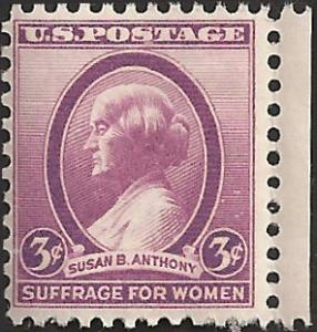 # 784 MNH - SCV-0.25 - SUSAN B. ANTHONY