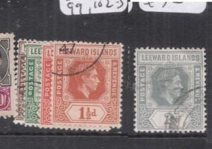 Leeward Islands SG 95a, 96, 99, 102-3 VFU (5dog)