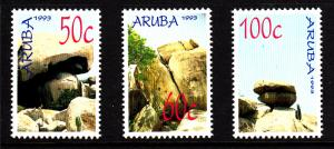 Aruba MNH Scott #89-#91 Set of 3 Rock Formations in Ayo and Casibari Districts