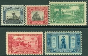 EDW1949SELL : USA 1925 Scott #617-21 Complete sets. VF, Mint Never Hinged.