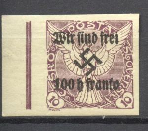 Sudetenland, Rumburg 1938 Mi. # 19, MLH,  no faults,