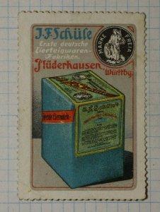 J.F. Schufe Egg Pasta Factory German Brand Poster Stamp Ads