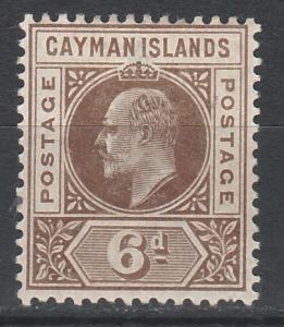 CAYMAN ISLANDS 1902 KEVII 6D WMK CROWN CA