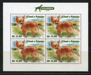 SAO TOME  2018 DOG BREEDS SHEET  MINT NH