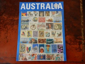 Australia packet cancelled stamps