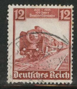Germany Scott 460 used 1935  Train stamp