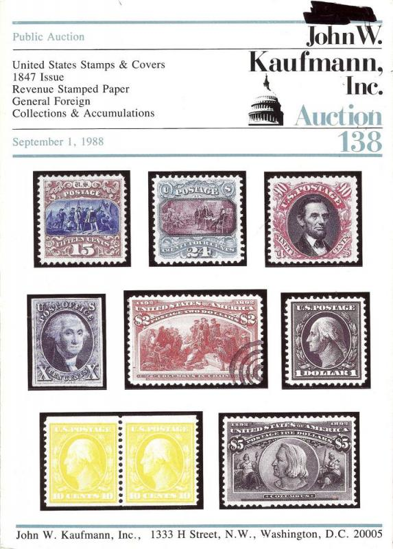 United States Stamps & Covers, 1847 Issue, Revenue Stampe...