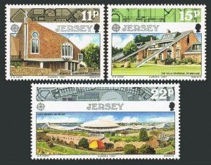 Jersey 423-425,MNH.Michel 405-407. EUROPE CEPT-1987.Modern architecture.
