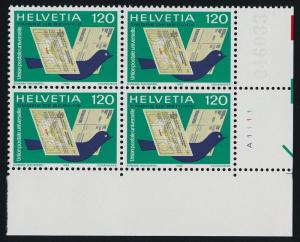 Switzerland 9O14 BR Block MNH International Reply & Notification Service