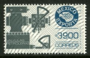 MEXICO Exporta 1766 $3900P Oil Valves w/Burel Paper 13 MNH
