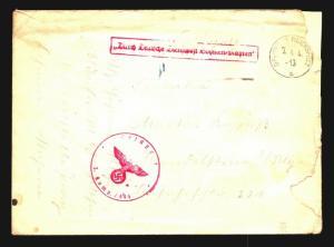 Bohemia Moravia 1941 Censored Feldpost Cover - Z14167