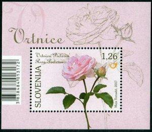 HERRICKSTAMP NEW ISSUES SLOVENIA Sc.# 1218 Roses Souvenir Sheet
