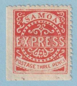 SAMOA 3d MINT HINGE REMNANT OG * NO FAULTS VERY FINE!