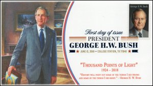 19-144, 2019, George HW Bush, Digital Color Postmark, FDC, 41st President