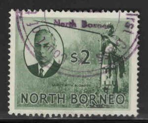 North Borneo Scott 256 Used 2$ stamp CV$20