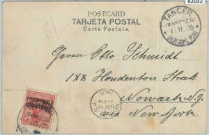 82032 - GERMAN COLONIES Marocco - Postal History - POSTCARD from TANGER 1905