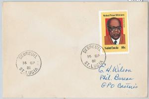 62316  -  ST LUCIA - POSTAL HISTORY -   COVER 1981:  DEBREUIL