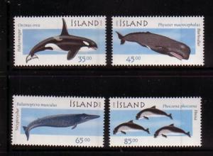 Iceland Sc 873-6 1999 Marine Mammals stamp set mint NH