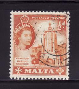Malta 247 U Queen Elizabeth II (B)