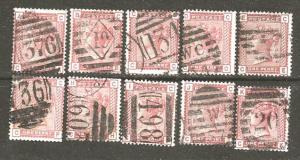 Great Britain 79 [U] 10 different plate letters CV $125